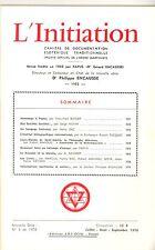 REVUE. L INITIATION Cahiers de Documentation Ésotériquei. 49° ANNEE. N°3. 1976