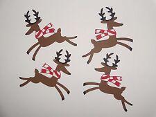 4 reindeer with red/white scarf scrapbooking die cuts