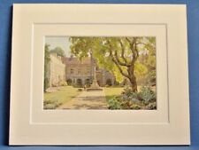 DULWICH OLD SCHOOL GREATER LONDON VINTAGE DOUBLE MOUNTED WATER COLOUR PRINT 10X8
