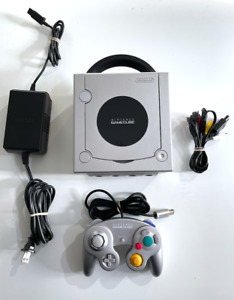 Platinum Silver Nintendo GameCube System Console Tested + Working!