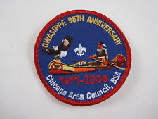 Owasippe 95th Anniversary Patch 2006 BSA Boy Scouts Camp Owasippe Chicago NEW