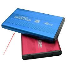 "USB2.0 External Hard Drive Case Box Aluminum HDD SATA 2.5 "" Portable Laptop Blue"