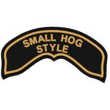 CUSTOM EMBROIDERED SMALL HARLEY HOG ROCKER PATCH