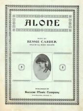ALONE Music Sheet-1905-BESSIE CARDER-Success/Star Building/CHICAGO/ILLINOIS