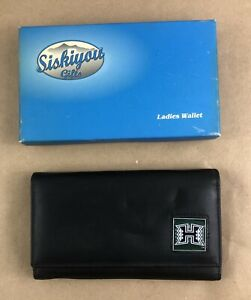 University Of Hawaii Womens Black Leather Wallet NCAA Licensed Product Gift