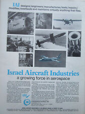 1/1972 PUB IAI ISRAEL AIRCRAFT INDUSTRIES MIRAGE ARAVA COMMODORE ORIGINAL AD