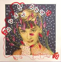 "MARIA MURGIA ""Audrey Hepburn"" CM 28X28 dipinto su cartoncino avorio + pass 40x40"