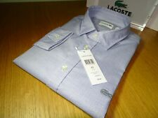 LACOSTE MENS LONG SLEEVED SLIM FIT POLKA DOT COTTON SHIRT FR 38/42 XS/M-L £100