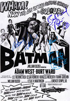 Adam West, Lee Meriwether, Burt Ward Signed Autograph Batman 1966 8x10 Photo COA