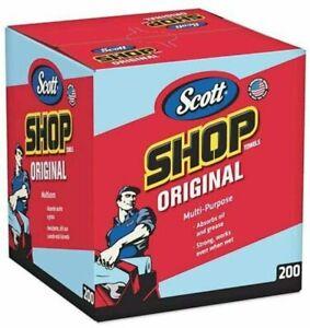 Scott Blue Shop Towels in a Box 200 Pack