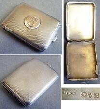 Boite étui à allumettes en argent massif 1930 silver match box Dingley Bros