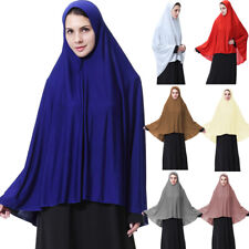 Muslim Women's Prayer Long Hijab Scarf Jilbab Full Cover Large Overhead Clothes