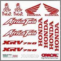12pcs KIT Adesivi Rosso compatibile con HONDA XRV 750 Africa Twin XRV750 Dakar