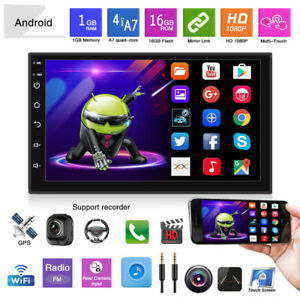 7'' Android 9.1 1+16G Touch Car MP5 Player Stereo FM Radio WiFi GPS NAVI EQ/DSP