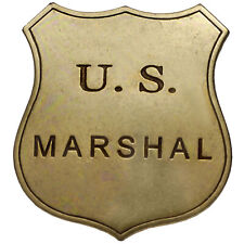 American United States Western Old West Lawman Classic US Marshal Badge New