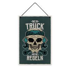 Truck Regeln 20 x 30 cm Holz-Schild 8 mm Spruch Motiv Geschenk Männer LKW-Fahrer