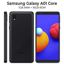 Samsung Galaxy A01 Core 16GB SM-A013G/DS Black  Android OS v10.0 Double SIM Noir