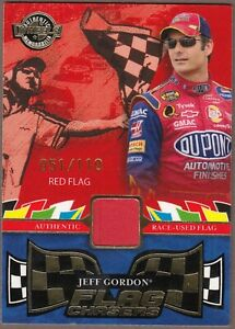 2006 High Gear JEFF GORDON Flag Chasers RED Flag FC2; Ser# 51/110 WOW!