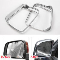 For Jeep Grand Cherokee 2011-2016 ABS Chrome Side Mirror Visor Cover Trim