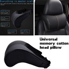 1pcs Adjustable Headrest Pillow Leather Car Seat Head Neck Rest Cushion Bone Pad