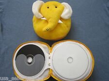 New Cute Yellow Elephant CD DVD Carrying Case Bag Holds 24 Discs Storage Toy