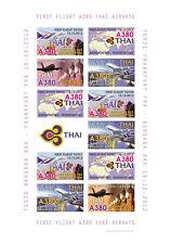 "VIGNETTES AERIENNES ND ""A380 Thai Airways - 1er Vol Bangkok-Frankfurt"" 2012"