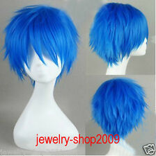 New wig Short Cosplay home KAITO Brother blue turned Alice  Wig