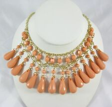 Phenomenal New Necklace with Peach Colored Tear Drop Beads #N2403