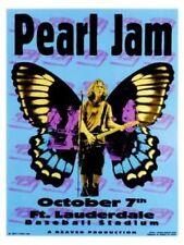 Pearl Jam POSTER Eddie Vedder Florida 1996 Silkscreen Print Signed Numbered
