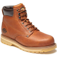 MENS DICKIES WELTON NON-SAFETY BOOTS TAN SIZE UK 6 - 12 LEATHER FN23600