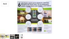 Capstone 6 LED Puck Lights With Remote Timer Dimmer & Batteries -NEW & SEALED-