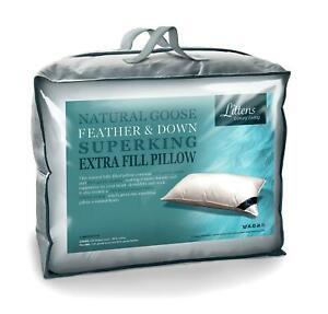 Extra Filled Super King Size Goose Feather & Down Pillow (50cm x 90cm)
