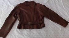 Adler Lambskin Leather Asymmetric Bomber Buttery-Soft Chocolate Brown S Jacket