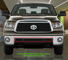 Stainless Steel Black Mesh Grille Grill Front Bumper For 2010-2013 Toyota Tundra