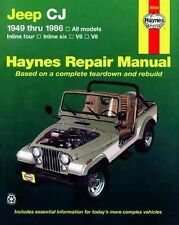 Haynes Jeep CJ 1949-1986 Repair Manual WORKSHOP V6 V8 Scrambler Renegade Laredo