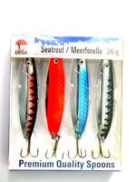 Meerforellen Blinker Premium Set Jenzi Lars Hansen 4 x 26g Spoons Mefo-Blinker