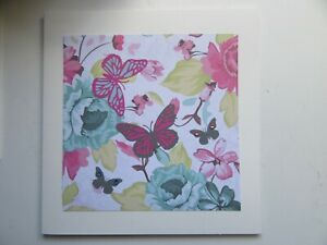 """Pink/Blue/Grey Butterflies/Floral 6""""x6"""" - Blank, For Any Occasion, Handmade Card"""