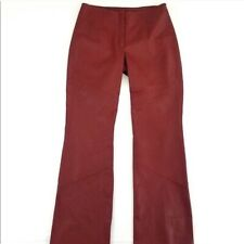 Wilsons Leather Pelle Studio soft red leather pants size 4