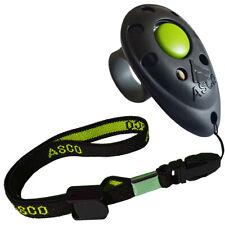 ASCO Finger Clicker mit Stretch Armband für Clickertraining , Premium Klicker