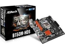 New ASROCK B150M-HDS 6th Gen Intel® DDR4 SATA USB 3.0 7.1 Audio & LAN Micro ATX