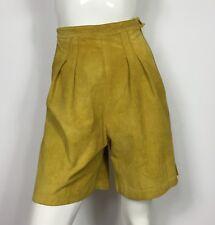 shorts vintage vera pelle donna usato S small vita alta sexy hot boyfriend T3856