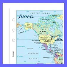 Filofax Pocket World Map 211904 Inserto di ricarica