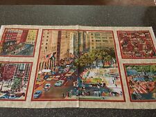 City Scapes Panel Saturday Evening Post QT 23x42 Vintage Street Scene