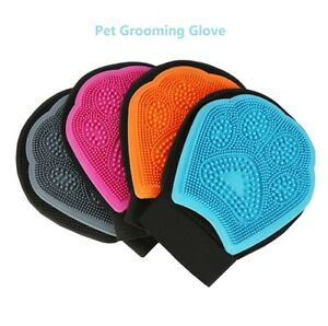 True Touch Double Sides Glove for Gentle and Efficient Pet Grooming