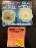 NEW 3x Greys Prodigy Grippa Extenda Bait Bands Medium John Roberts Pellet Loader