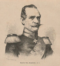 General Albrecht von Roon HOLZSTICH von 1871 Deutsch-Französischer Krieg