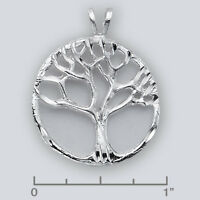 Sterling Silver Tree of Life Charm Pendant 10553