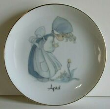 "Vtg 1983 Enesco Precious Moments April Birthday 6"" Collectible Plate"