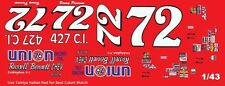#72 Benny Parsons Bennett Chevrolet 1972-73 1/43rd Scale Slot Car Decals
