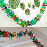 3m Tropical Paper Flower Garland Hawaii Luau Party Favor String Garland Banner